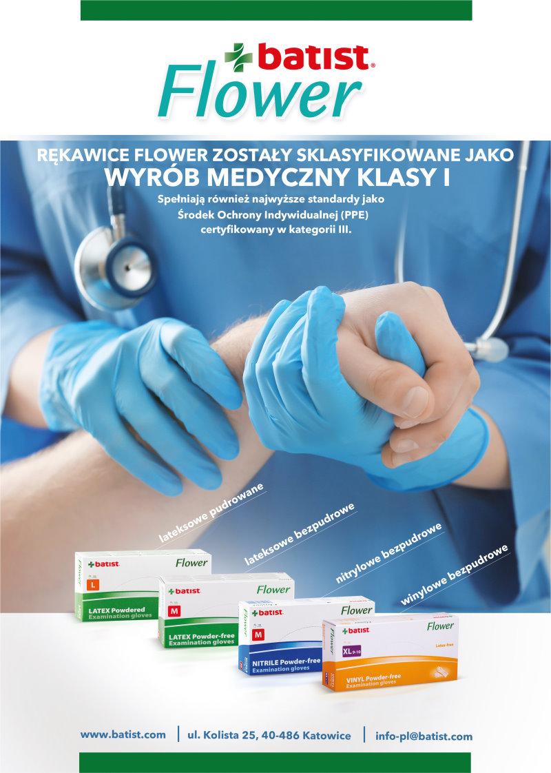 Rękawice Flower zostały sklasyfikowane jako wyrób medyczny klasy I